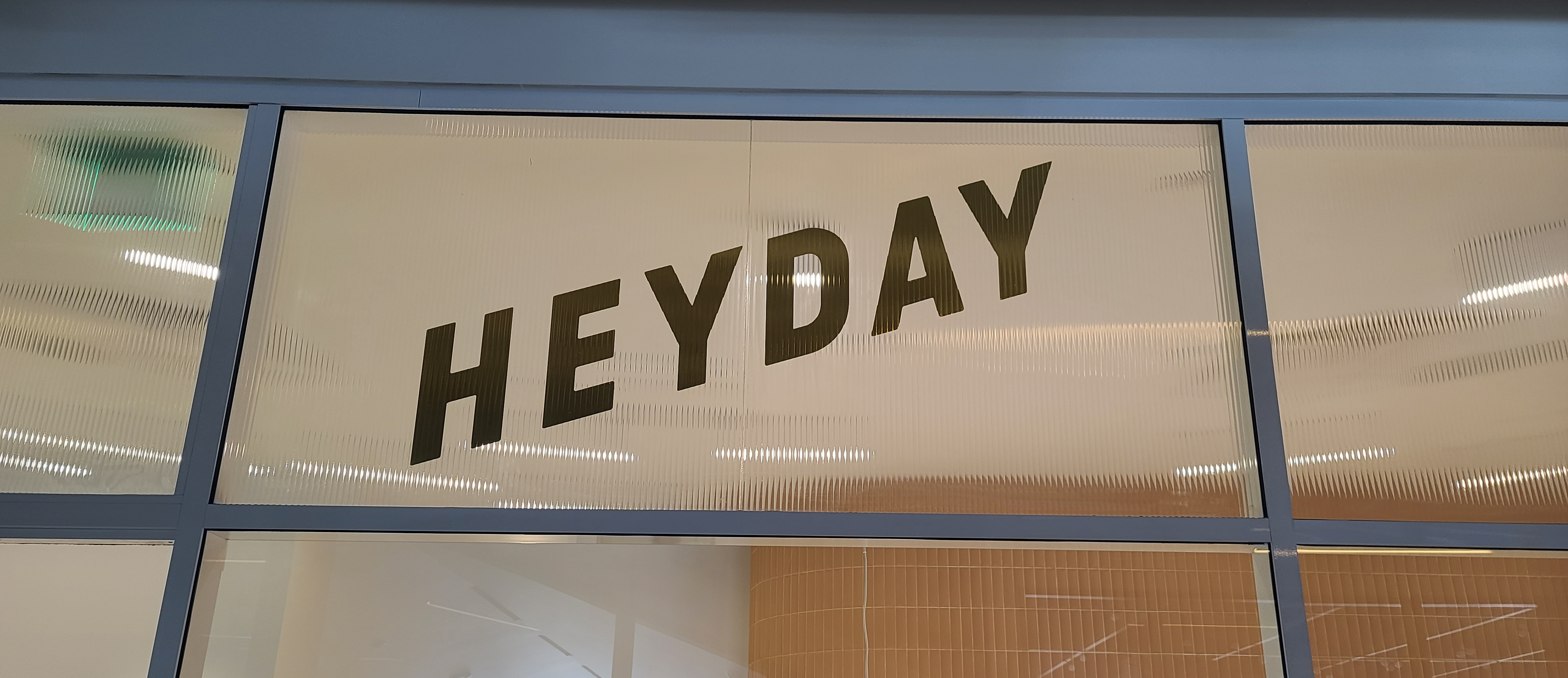 Any surface can be used for signage to boost brand visibility. That's what we did with these window graphics for Hey Day in Los Angeles!