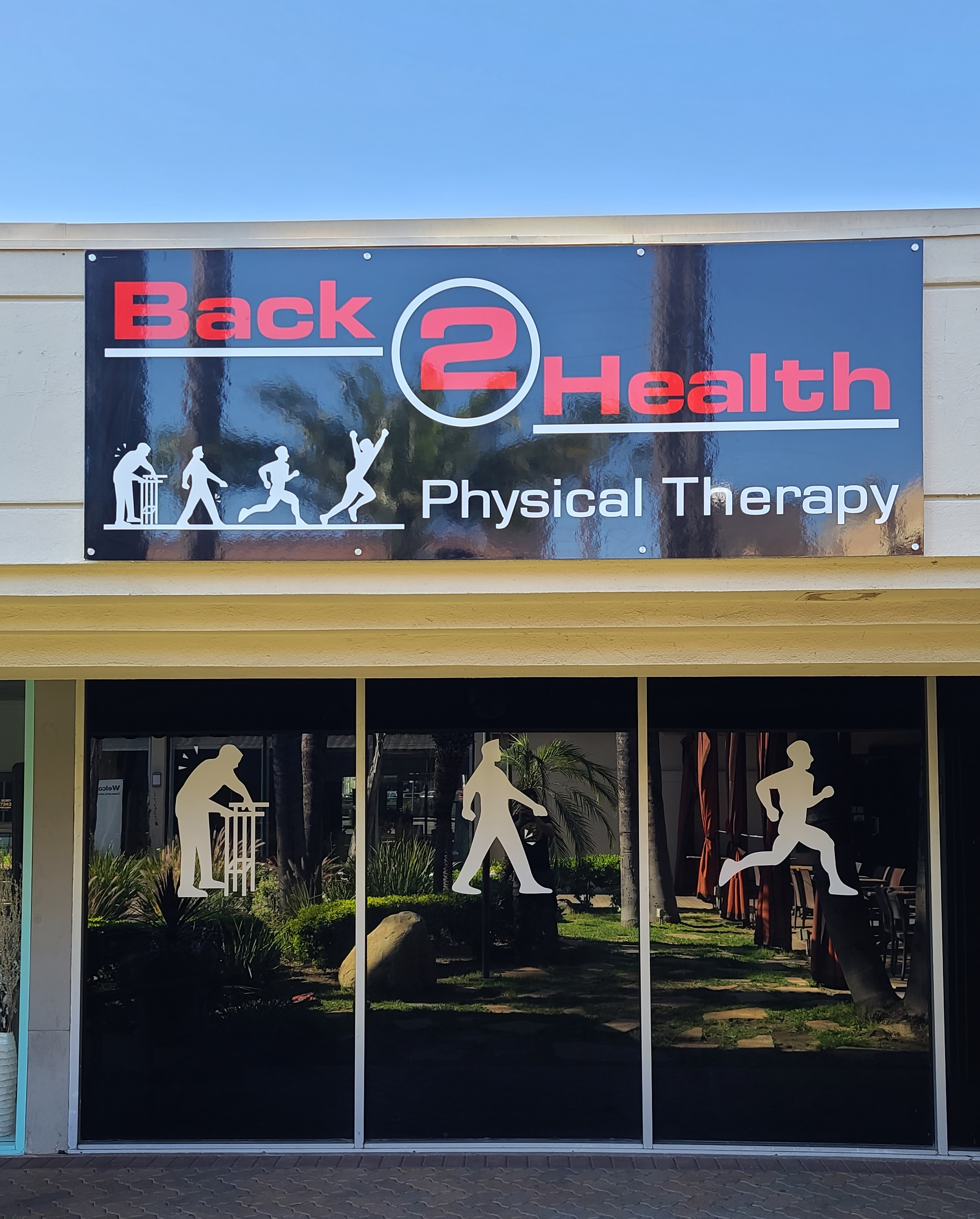 These custom outdoor signs we fabricated and installed for Back 2 Health in Encino will make them stand out from the rest and draw customers in.