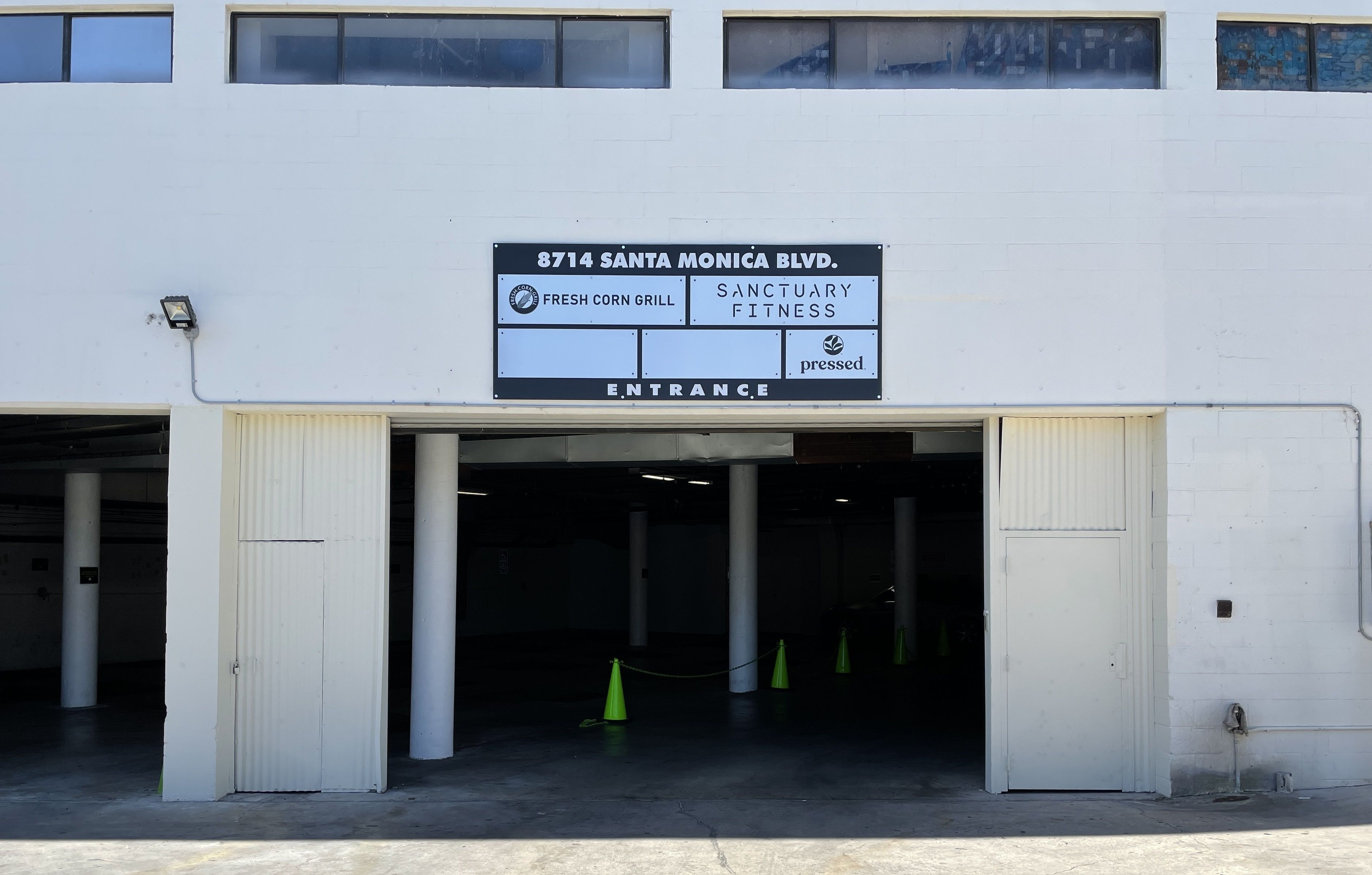 Our sign package for Ronco Investments Inc. also includes parking lot signs for their Beverly Hills building.