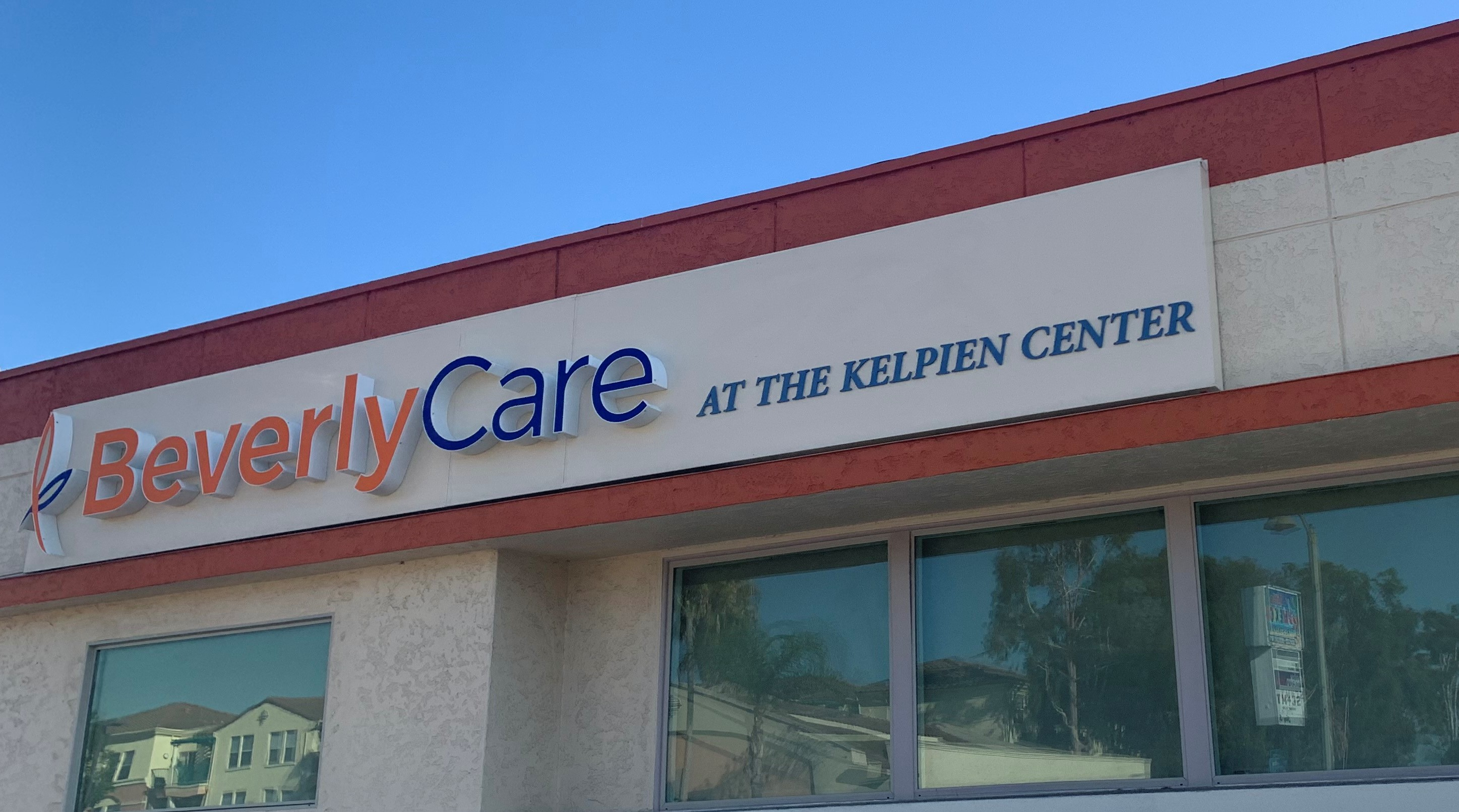 These are the front lit channel letters with acrylic lettering we fabricated and installed for BeverlyCare at the Kelpein Center in Montebello.