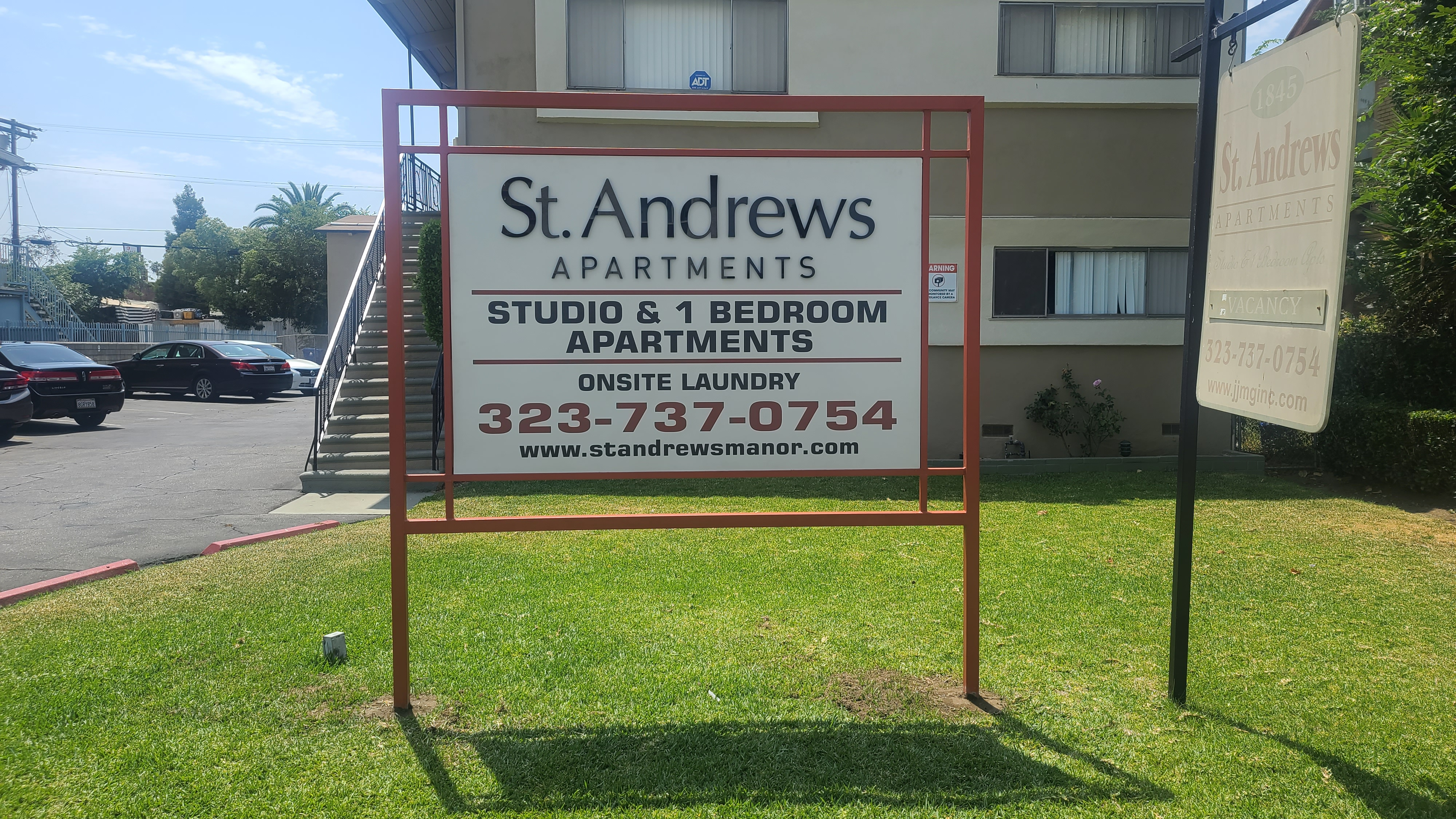 This is the monument sign we made for Jones and Jones' St. Andrews property, part of our broader sign package for the company.