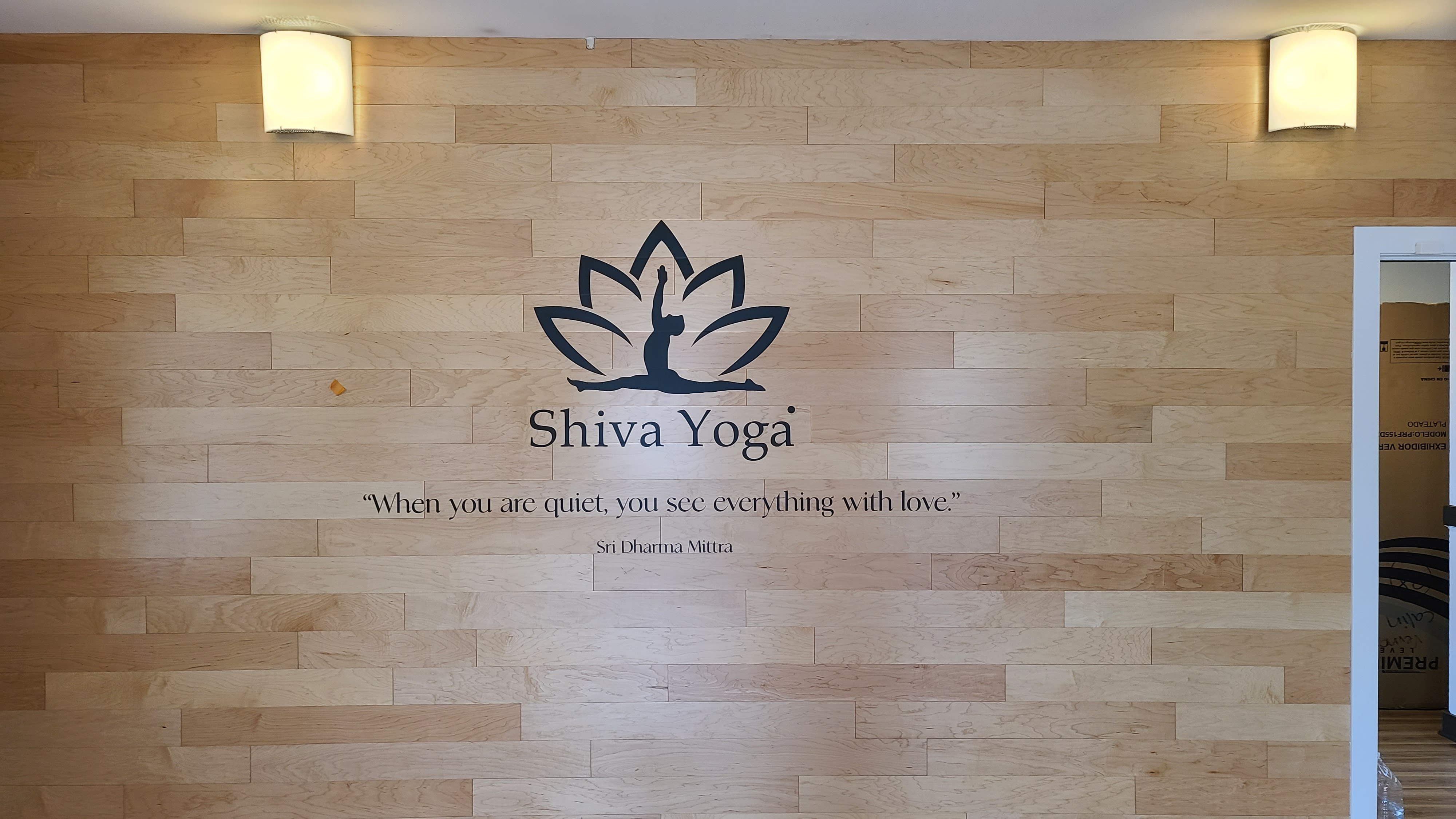 With these wall graphics, members and visitors alike will know that tranquility and a good workout await them in Shiva Yoga's West Hollywood branch.