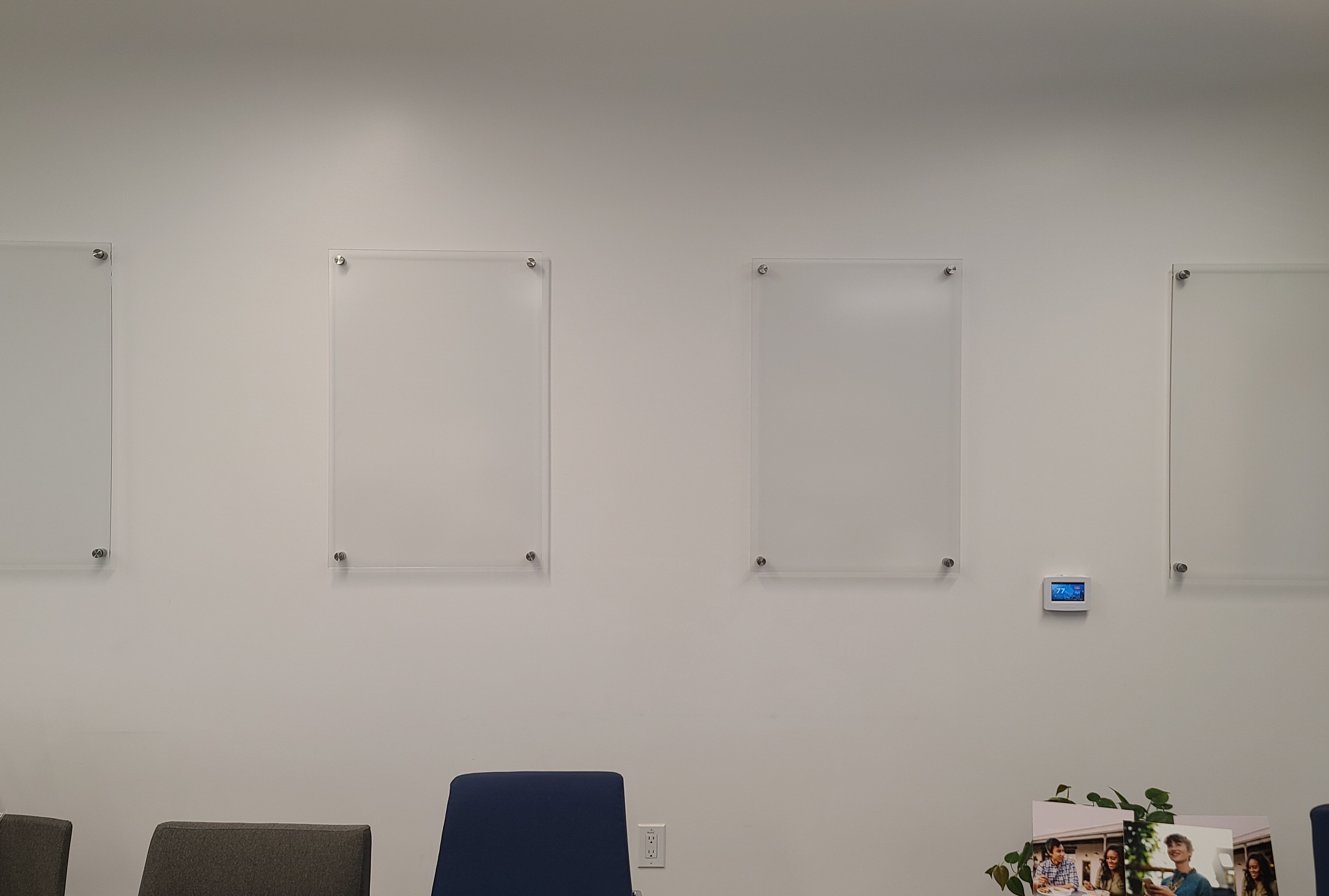 More from our office sign package for LA Financial, these are acrylic poster panels or poster holders for their Los Angeles office.