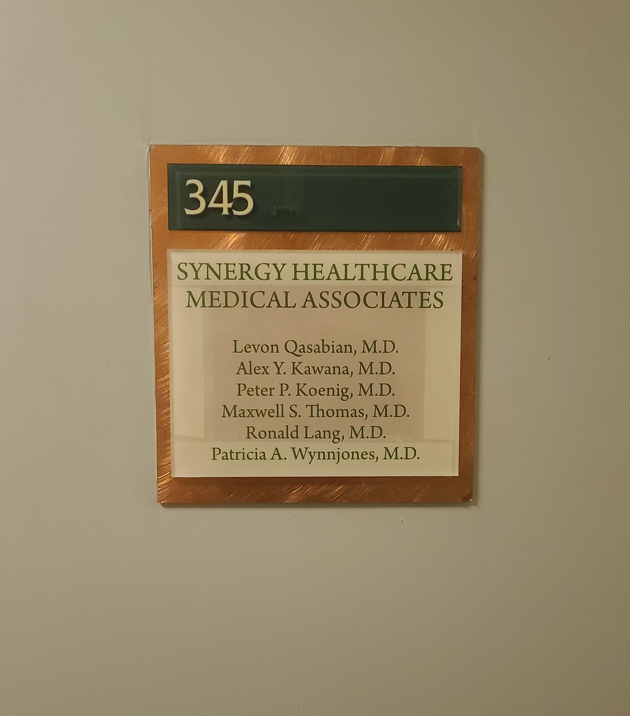 Office door plaques for Ethan Christopher's building in Encino help identify specific clinics making navigation easier for visitors, patients and staff alike.