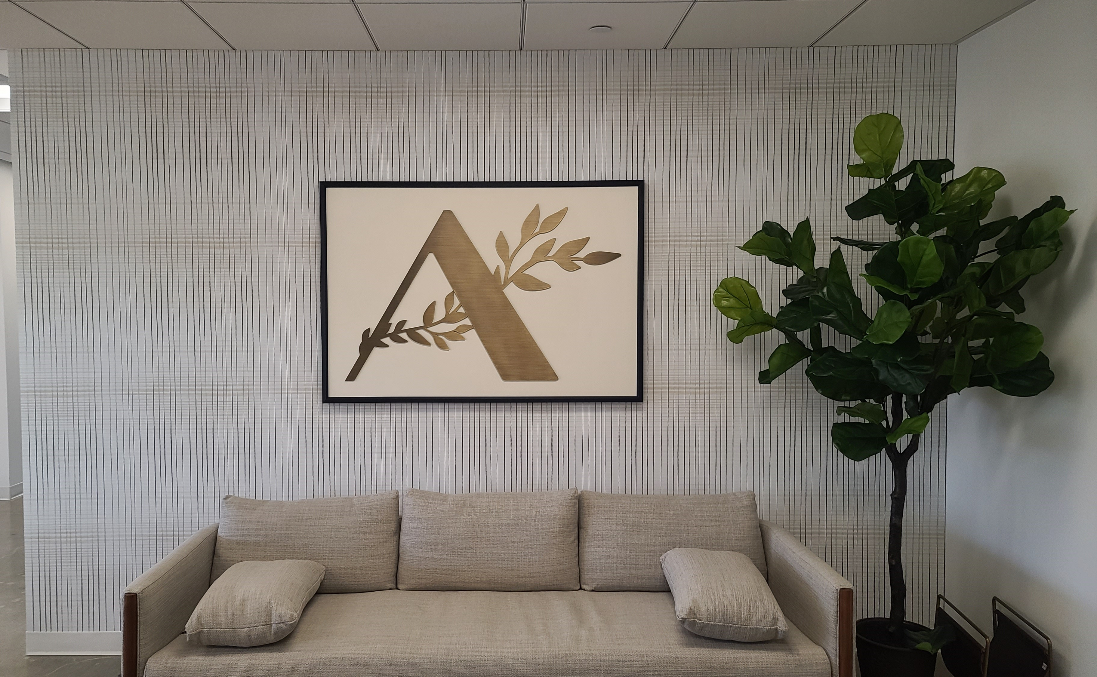 We are proud to present this lobby sign that serves as the eye-catching centerpiece for Abundance Capital in West Los Angeles!